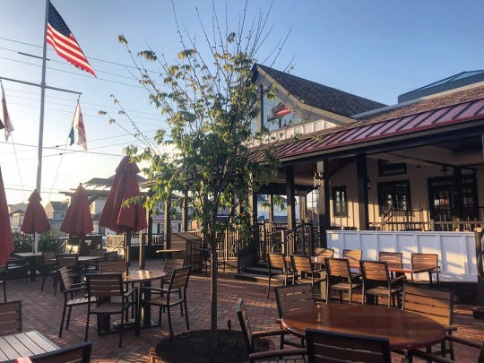 The patio outside Station No. 117 Tavern and Garden, which opened in May in Beach Haven.