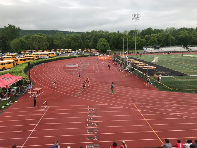 View from up top during Wednesday's Day 1 of Section 4's State Qualifier.