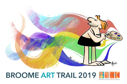 The mascot for the Broome Art Trail, B.C., was created by Mason Mastroianni, grandson of the late Johnny Hart. The mascot will be featured on signs marking each venue.