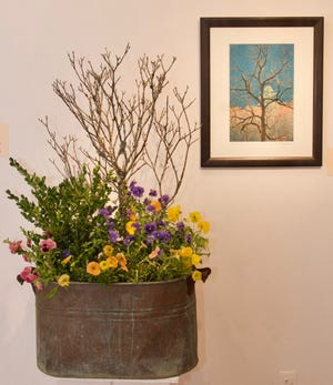 This Cataloochee photo by David Simchock with floral design by Jeff Seitz of Appalachian Creek is an example of the work that can be found at the Black Mountain Center for the Arts when Art in Bloom returns for its 13th year June 13-15.
