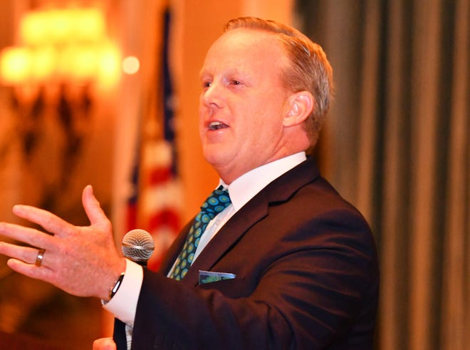 Former White House press secretary Sean Spicer was the guest speaker for the Brevard Republican Executive Committee's 2019 Lincoln Reagan dinner Wednesday night at the Radisson at the Port in Cape Canaveral.
