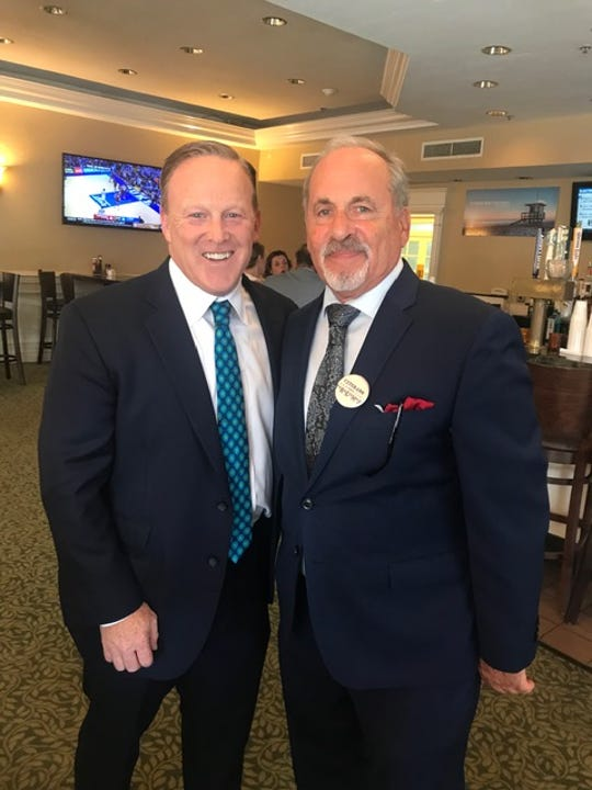 "Cocoa resident Bob Socks of Cocoa, right, said he was ""very excited to have someone of the caliber of Sean Spicer"" as the keynote speaker at the Brevard Republican Executive Committee event."