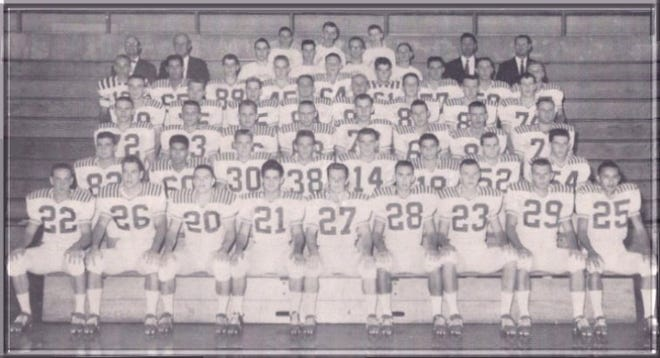 The Ray High School football team won the 1959 state championship.