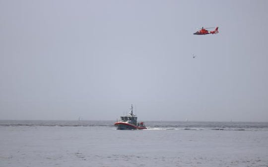 An air, sea and shore search Wednesday failed to find the pilot of a small plane tht crashed off the beach at Cape May Point.