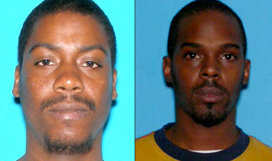 Naeem Reynolds, left, of Egg Harbor Township and Aaqib James of Pleasantville are accused of burglarizing multiple Dunkin' Donuts stores.
