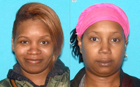 Rasheedah Blackwell, left, of Atlantic City and Altovise James of Pleasantville are charged in connection with a burglary spree at Dunkin Donuts stores.