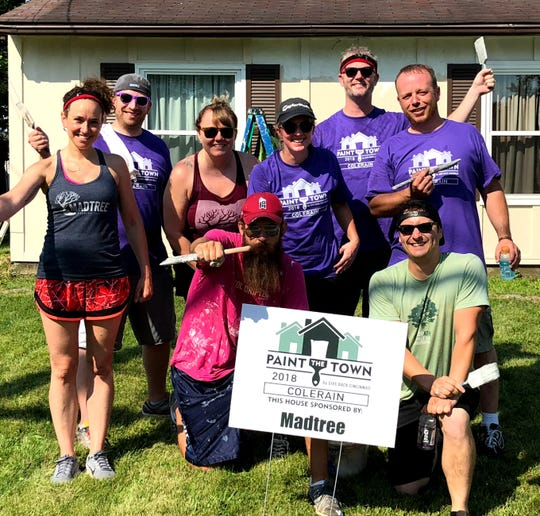 Paint the Town is an annual volunteer event that paints dozens of homes in a single day; this year, the volunteers from sponsors like MadTree Brewing will paint 26 homes in Avondale & Evanston.