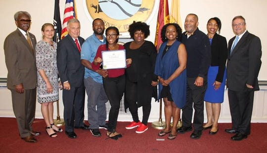The Mayor and Committee of the Township of Union recognized Tatum Thompson, scholarship recipient.  Tatum is a graduating senior at Union High School who will be attending Montclair State University in the fall.