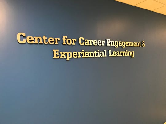 Sondra Edwards Buesing Riley of the Center for Career Engagement and Experiential Learning handles assisting Saint Peter's students with finding jobs and internships