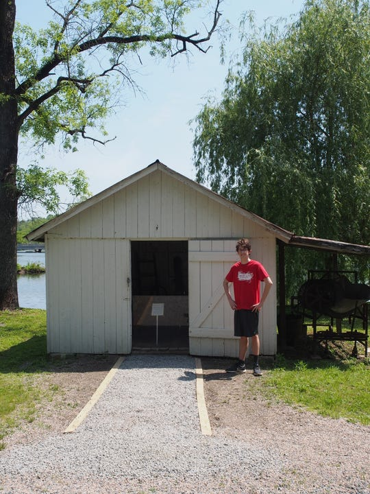 Callum Weiss is working on restoring the area surrounding the Clinton Red Mill for his Eagle Scout project