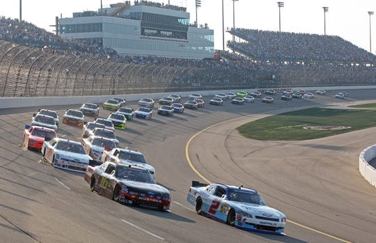 Fan attendance was much better at Iowa Speedway in earlier years (here, the 2011 U.S. Cellular 250 is shown with nearly full grandstands). The Newton track hopes to land a Cup Series race as early as 2021.