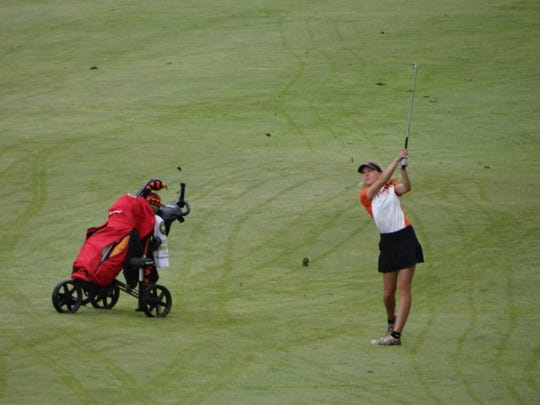 West Des Moines Valley's Paige Hoffman won individual medalist honors at the Class 4A state golf tournament on Wednesday, May 29, 2019.