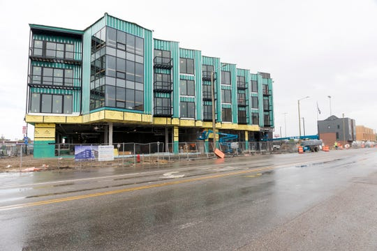 Residential development is growing on Trumbull St. at Michigan Ave. along the old Tiger Stadium, in Detroit, Mich., Thursday, May 30, 2019.