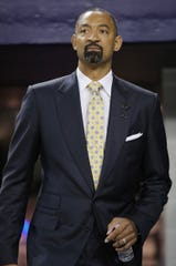 Juwan Howard was introduced as the new head coach of the Michigan men's basketball team during a press conference on Thursday, May 30, 2019 at Crisler Center in Ann Arbor, Mich.