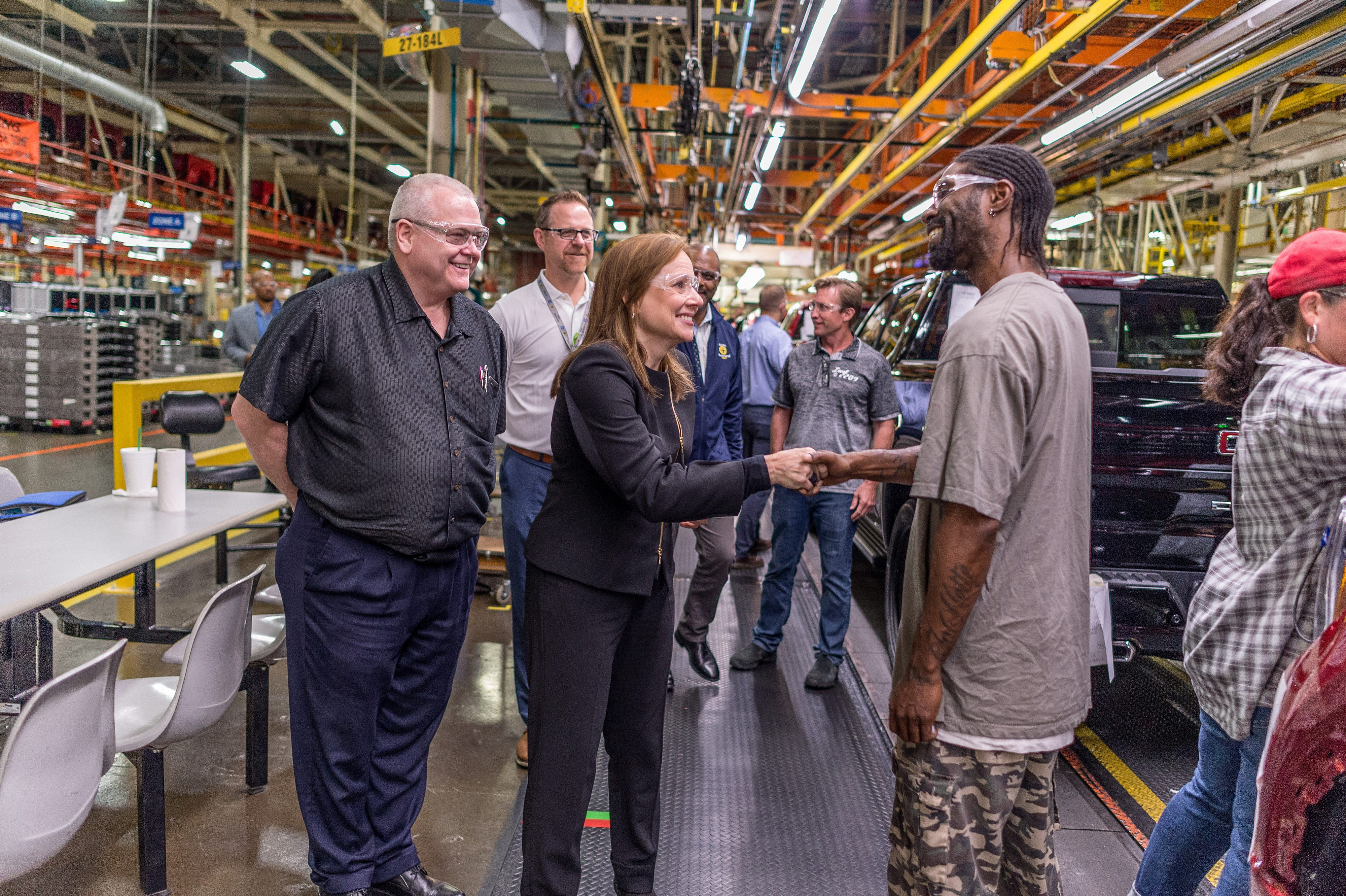 GM CEO Mary Barra to tour factories, review...