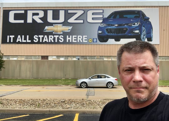 David Green, president of UAW Local 1112, was one of just seven UAW workers still on the job at General Motors' Lordstown Assembly Plant as of May 30, 2019. He was laid off May 31, 2019.