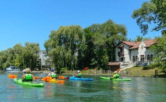 Riverside Kayak's tour takes boaters through canals of the city.