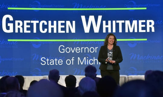 """Gov. Gretchen Whitmer says """"connecting all Michigan communities with broadband service is about leveling the playing field for every child and small business in the state."""""""