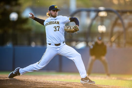 Michigan right-hander Karl Kauffmann will start Friday night against Creighton.