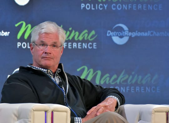 Senate Majority Leader Mike Shirkey, R-Clarklake, listens to a discussion on Michigan's future at the annual Detroit Regional Chamber of Commerce's  Mackinac Policy Conference Thursday.