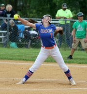 Bella Willsey struck out 18 and pitched a one-hitter in Thomas A. Edison's 11-0 win over Greene in a Section 4 Class C softball semifinal May 30, 2019 in Elmira Heights.