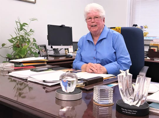 Notre Dame High School President Sister Mary Walter Hickey is moving into semi-retirement after 47 years with the school.