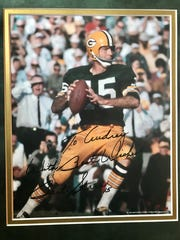 Bart Starr autographed this photo for Audrey Zigmund after a chance encounter in 2010.