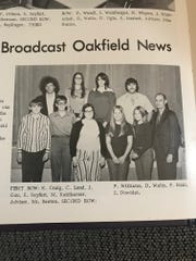 Peter Williams, in the upper left of this photo from the Oakfield High School yearbook, had hair so long, his high school football coach wouldn't let him play on the team
