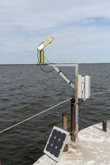NASA's Sea Photometer Revision for Incident Surface Measurements, or SeaPRISM, will record Green Bay's water color for comparison to satellite readings. The SeaPRISM was installed after NASA invited NEW Water to participate in its AERONET-OC initiative.