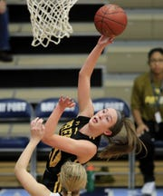 Green Bay Preble's Carley Duffney (20) is one of several candidates for prep player of the week.