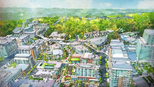 A rendering of what an East Downtown district could look like, focused on attracting tech-related growth.