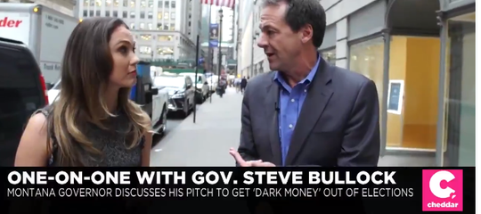 Gov. Steve Bullock discusses his presidential campaign online with Cheddar.