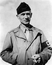 The son of a tenant farming parents in west-central Indiana, Ernie Pyle became history's greatest war correspondent. When Pyle was killed by a Japanese machine gun bullet on the tiny Pacific island of Ie Shima in 1945, his columns were being delivered to more than 14 million homes according to his New York Times obituary.