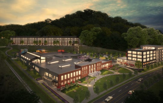 A rendering of the new plans for the Kern's Bakery site in South Knoxville from new development team Mallory & Evans Partners, LLC.