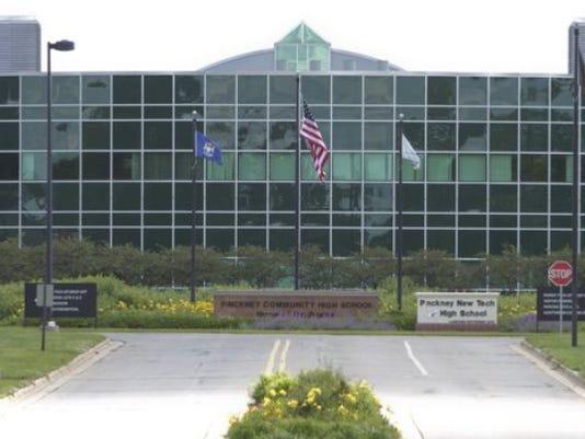 Pinckney Community Schools high school campus is pictured.
