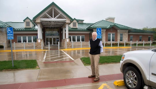 Tim Alexander, 76, a local architect, designed theDavid F. Winder VA Outpatient Clinic off Trimble Road, a LEED-certified building.