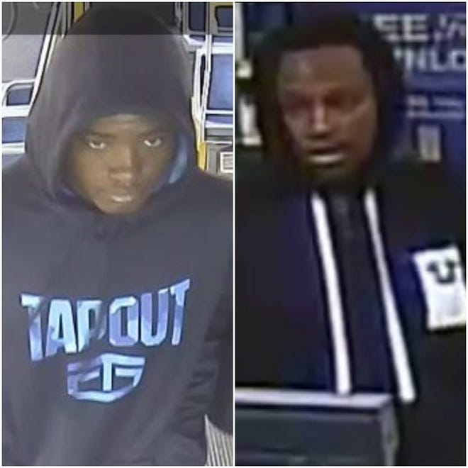Two men robbed a woman and made her drive to another location May 27outside the Qdoba at 418 N. Mayfair Road.The Wauwatosa Police Department is asking for assistance in identifying the two men involved in the armed robbery.