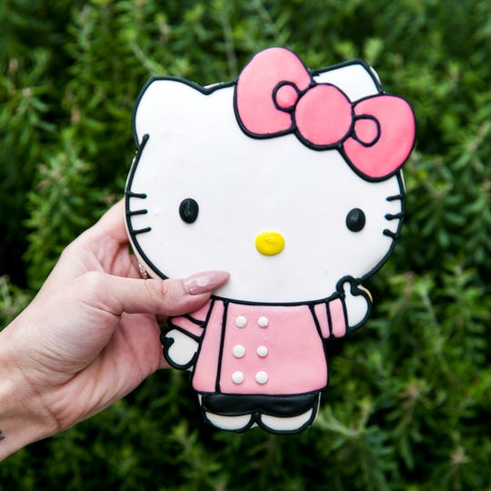 Giant Hello Kitty cookies are on the menu at the Hello Kitty Cafe Truck, which pulls into Mayfair June 8.