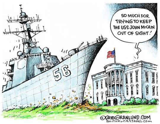 White House and USS John McCain
