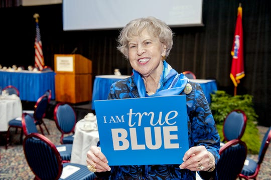 Dr. Liz Rhea, pictured at MTSU's 2012 Celebration of Philanthropy. Rhea, a native of Eagleville, served Rutherford County in multiple leadership capacities.
