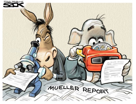 partisan views of mueller report