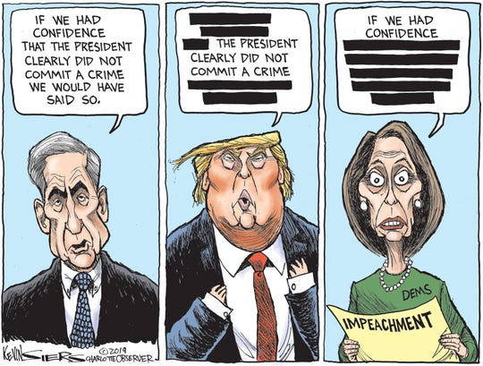 Mueller, Trump, Pelosi 'confidence'
