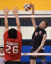 Fair Lawn junior outside hitter Mark Berry led the way offensively against Southern with 21 kills