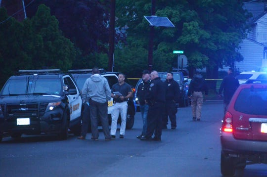 Authorities investigated a reported shooting on MacDonald Street in Clifton May 29, 2019.