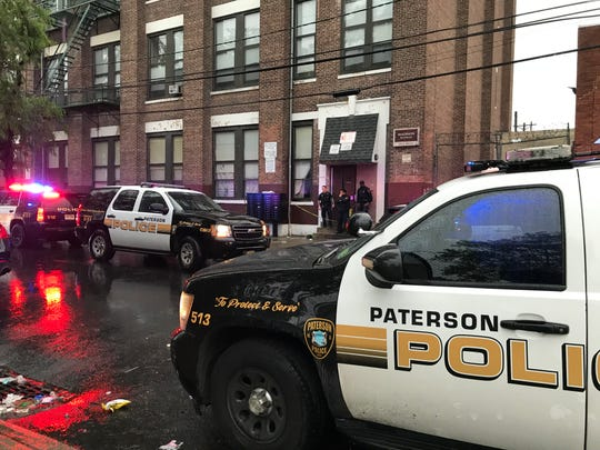 Paterson police investigating a shooting on East 19th Street Thursday night, May 30, 2019.