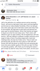 Katie Hoefler expresses her gratitude in Facebook post to Jeff Keenan, the man who saved her father's life.