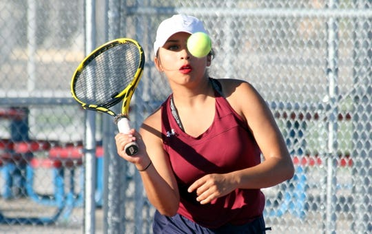 Kianna Gomez was a leader on the Lady ''Cat varsity tennis team this spring. Her work ethic and willingness to go above and beyond earned her a spot on the New Mexico South All-Star team.