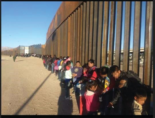 In El Paso, this group of over 430 immigrants showed up at the border.