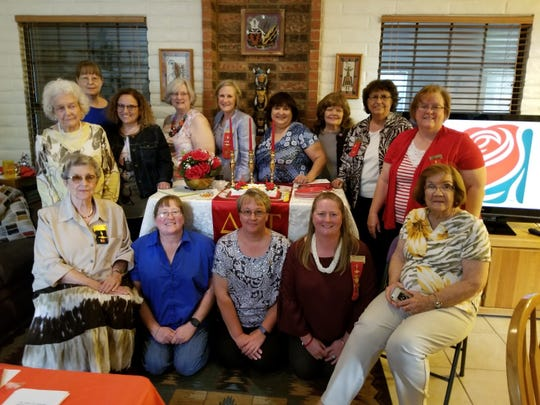 Sharron Stepro, Alice Morris-Jones, Brenda Sorenson, Susan Swope, Peggy Nelson; (back row from left to right) Freddie Olhausen-Finkner, Ellen Torres, Melinda Hopping, Yvette Moore, Mary Garcia, Hannah Monsimer, Navora Richardson, Barbara Jewett; (far back left) Cynthia Smith.