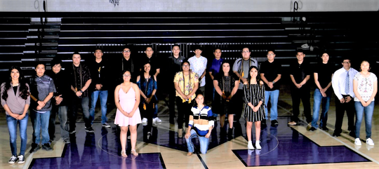 Scholarship recipients attended the awrds night at Mescalero.